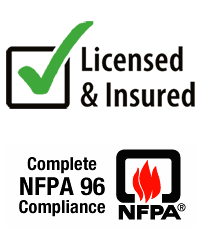 NFPA Licensed and Insurance logo hood cleaning